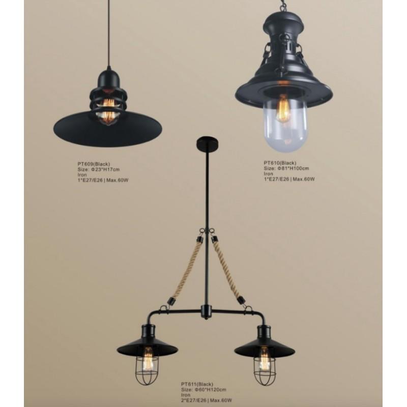 luminaires suspendus en m tal avec ampoule del. Black Bedroom Furniture Sets. Home Design Ideas